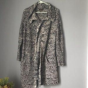 Fenn Wright Manson Marled Black/Gray DusterSweater